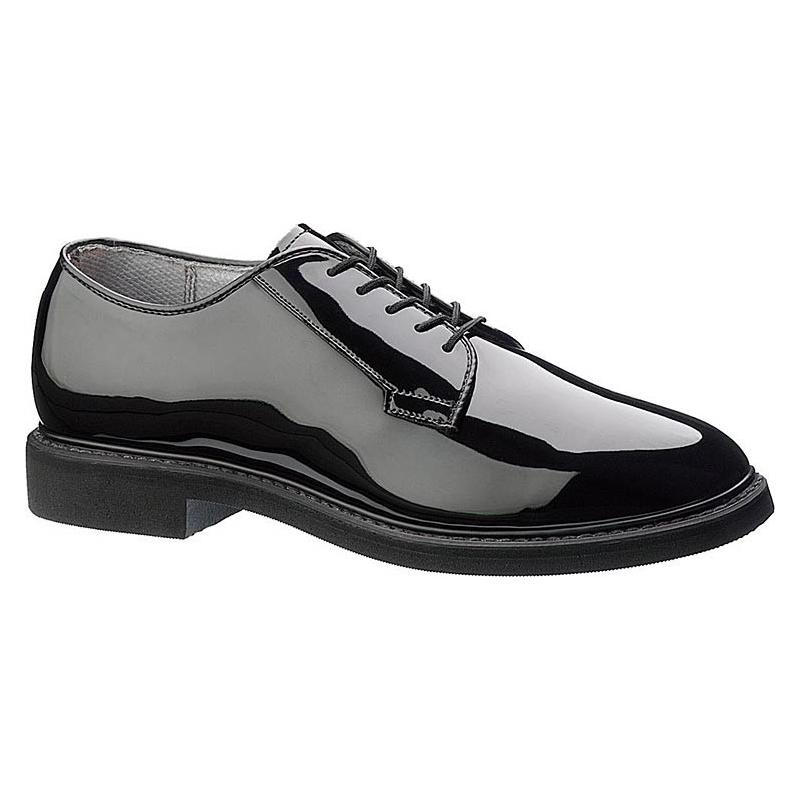 Bates Mens Lites Black High Gloss Oxford Shoes