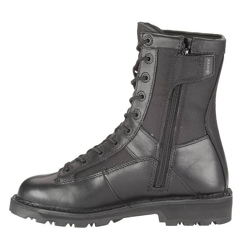 Bates Men's 8 inch DuraShocks Lace-to-toe Side Zip Boots