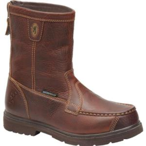 Browning Men's 8 Inch Back-Zipper Moc Toe Featherweights  Boot
