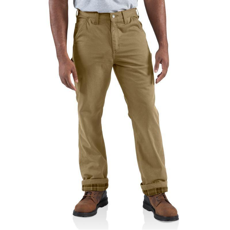 Carhartt Men's Washed-Twill Dungaree/Flannel Lined Pants