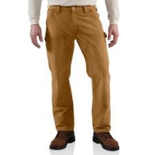 Carhartt Mens Weathered Duck Double-Front Dungaree Pants 100098