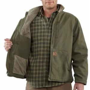Carhartt Men's Sandstone Duck Sherpa Lined Muskegon Jackets