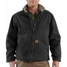 Carhartt_Carhartt Sandstone Duck Sherpa Lined Muskegon Jackets - Irregular
