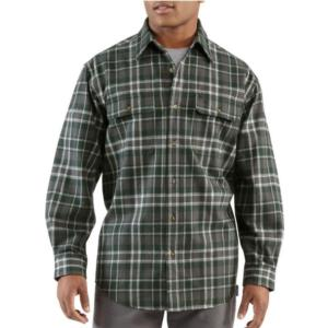 Carhartt Men's Heavyweight Hubbard Plaid Flannel Shirt