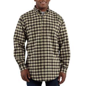Carhartt Men's Trumbull Midweight Flannel Shirt - Closeout