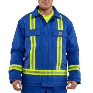 Carhartt Flame-Resistant Duck Traditional Coat with Reflective Striping-Quilt LIned