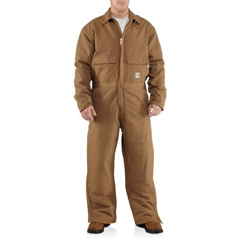 Carhartt Men's Flame Resistant Duck Coverall-Quilt Lined