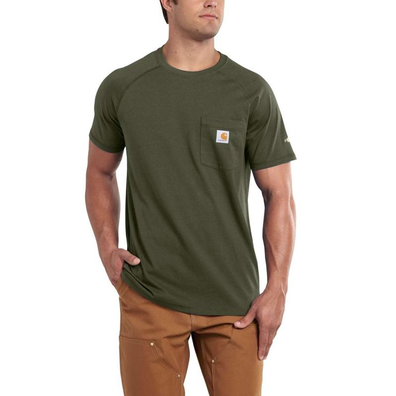 Carhartt Men?s Force Cotton Short-Sleeve T-shirts
