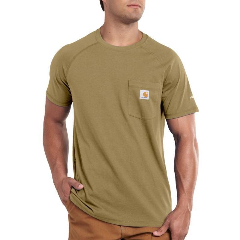 Carhartt force cotton short sleeve t shirts irregular for Carhartt burgundy t shirt