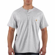 Carhartt Mens Force Cotton Short-Sleeve Henley Shirt 100413
