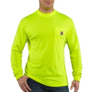 Carhartt Men's Force High Visibility Long Sleeve T-Shirt