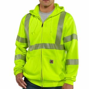 Carhartt Men's High Visibility Zip-Front Class 3 Sweatshirt