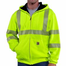 Carhartt Men's High Visibility Zip-Front Class 3 Thermal-Lined Sweatshirt 100504
