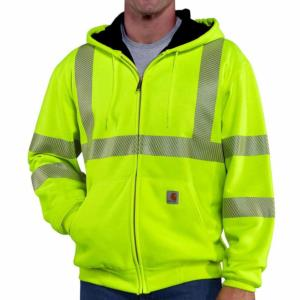 Carhartt Men's High Visibility Zip-Front Class 3 Thermal-Lined Sweatshirt