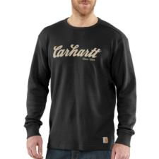 Carhartt Men's Textured Knit Script Graphic Crewneck-Irregular 100569IRR