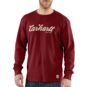 Carhartt Men's Textured Knit Script Graphic Crewneck
