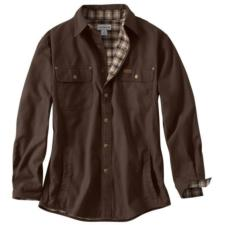 Carhartt Men's Weathered Canvas Flannel Lined Shirt Jac 100590