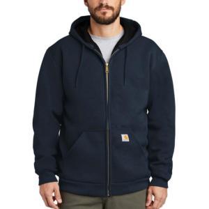 Carhartt 12 oz. Thermal-Lined Rain Defender Hooded Zip-Front Sweatshirts - Irregular