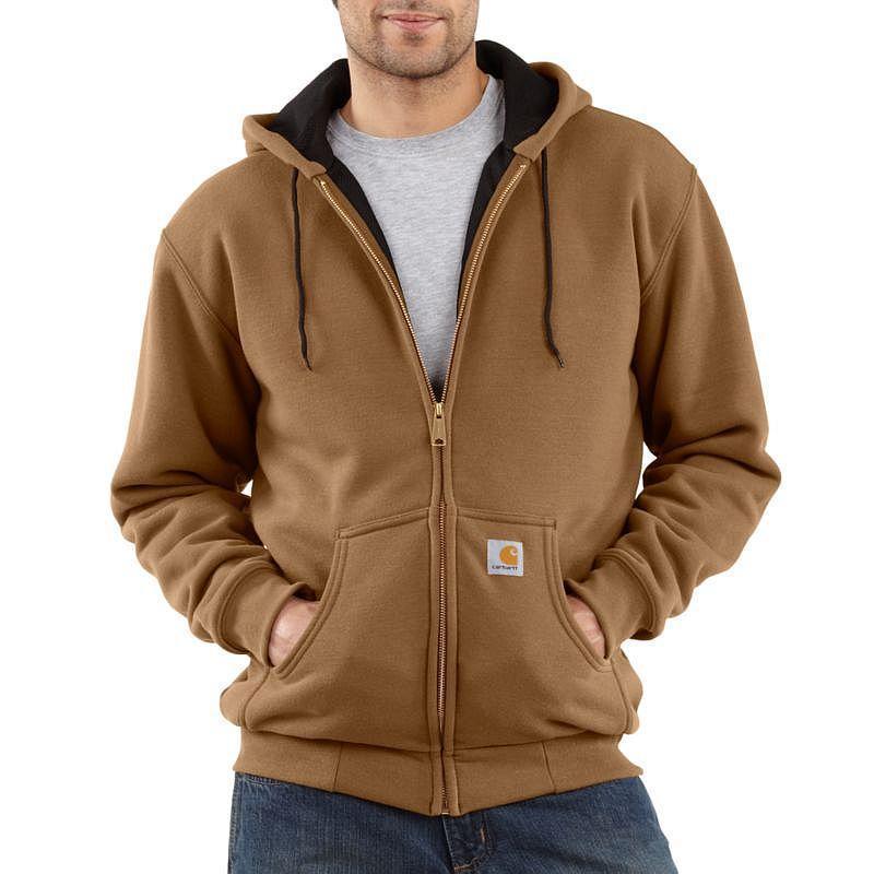 Carhartt 12 Oz Thermal Lined Rain Defender Hooded Zip
