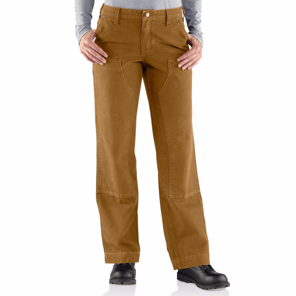 Carhartt Womens Relaxed-Fit Sandstone Kane Dungaree