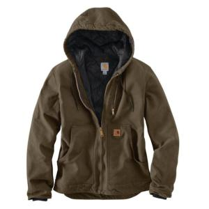 Carhartt Men's Sandstone Hooded Jacket - Irregular