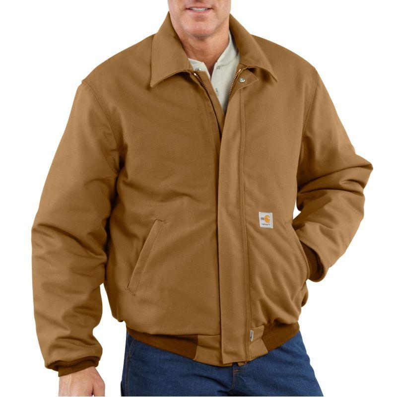 Carhartt Mens Flame Resistant Duck Bomber Jacket