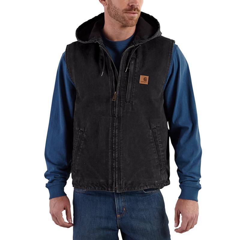 Carhartt Sandstone Duck Fleece Lined Knoxville Vest-IRR