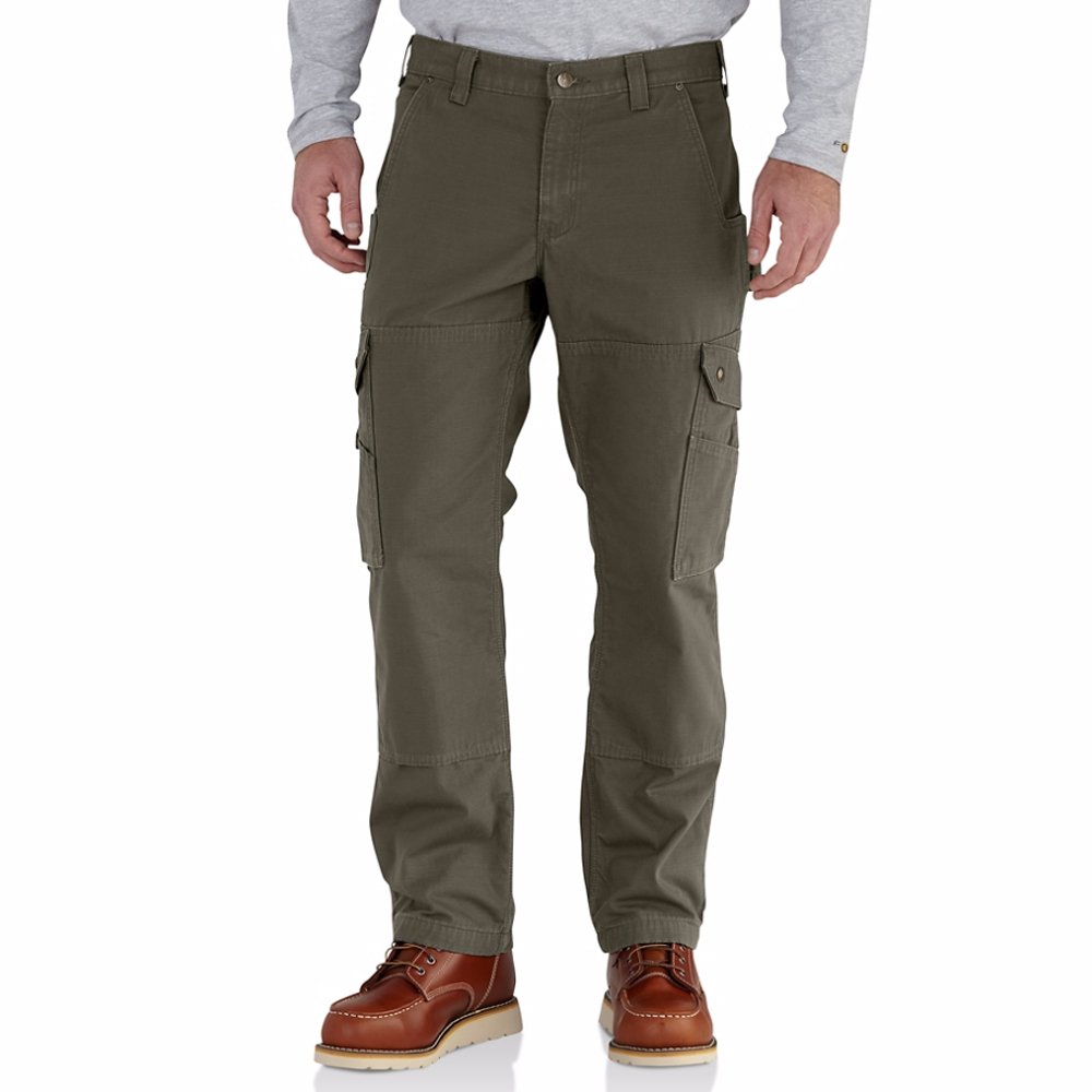 Carhartt Men's Flannel Lined Ripstop Cargo Work Pant