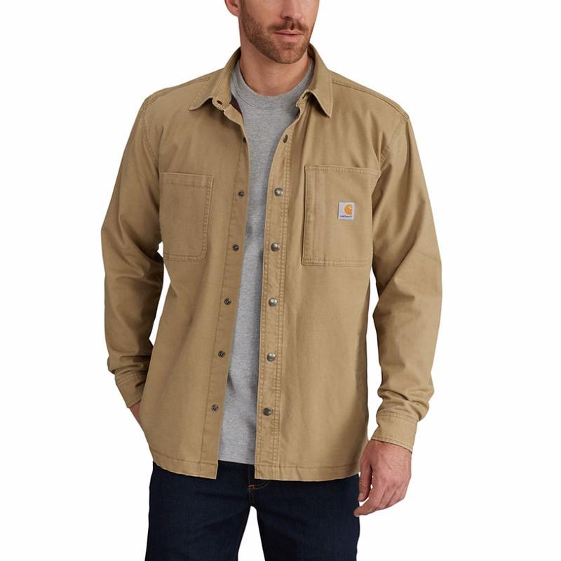 Carhartt Men S Rugged Flex Rigby Shirt Jac Fleece Lined 102851