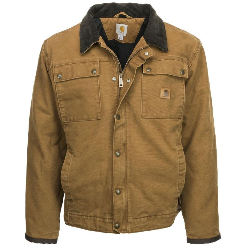 39b085d74 Carhartt Men's Sandstone Quilted Flannel Lined Tractor Jacket - Irr