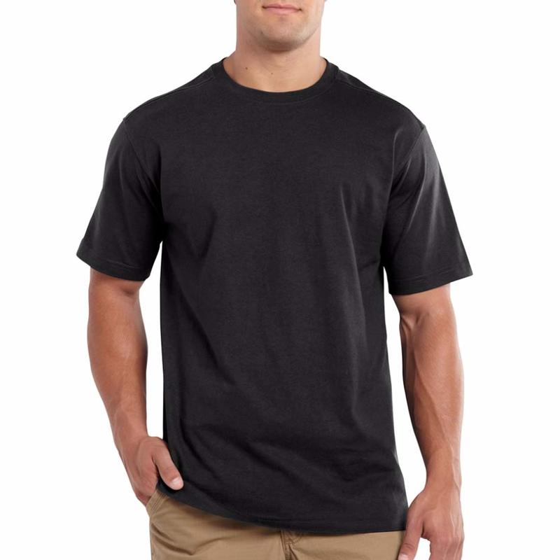 Carhartt Men's Workwear Plain Black T-Shirt - Irregular 500013irr