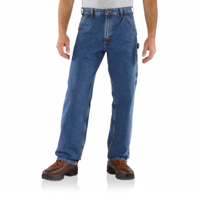 d3910374 Carhartt Men's Washed Denim Carpenter Jeans B13