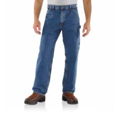 Carhartt Men's Washed Denim Carpenter Jeans B13