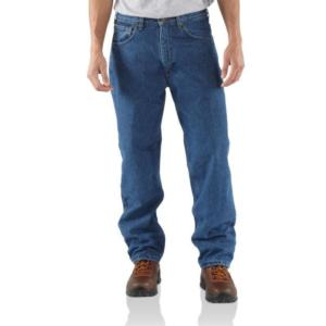 Carhartt Relaxed Fit  Fleece Lined Straight Leg Work Jeans - Irregular