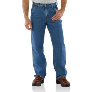 Carhartt Men's Washed Denim Carpenter Flannel Lined Jeans