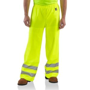 Carhartt Men's High Visibility Class E WorkFlex Rain Pants