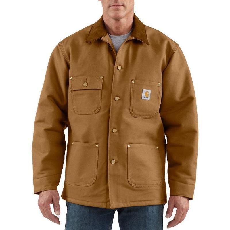 Carhartt Men's Blanket Lined Duck Chore Coat