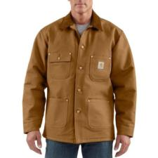 Carhartt Men's Blanket Lined Duck Chore Coat C001