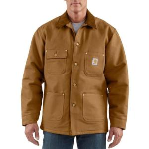 Carhartt Men's Blanket Lined Duck Chore Coat