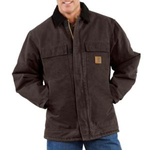 Carhartt Quilt Lined Sandstone Duck Arctic Traditional Coat - Irregular