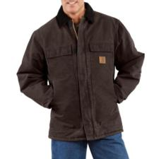Carhartt Sandstone Duck Arctic Quilt Lined Traditional Coat C26