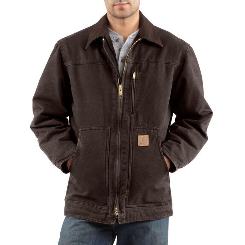 Carhartt Men S Sandstone Ridge Coats Sherpa Lined C61