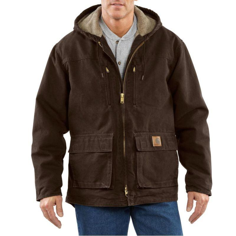 Carhartt Men's Sandstone Jackson Coat-Sherpa Lined