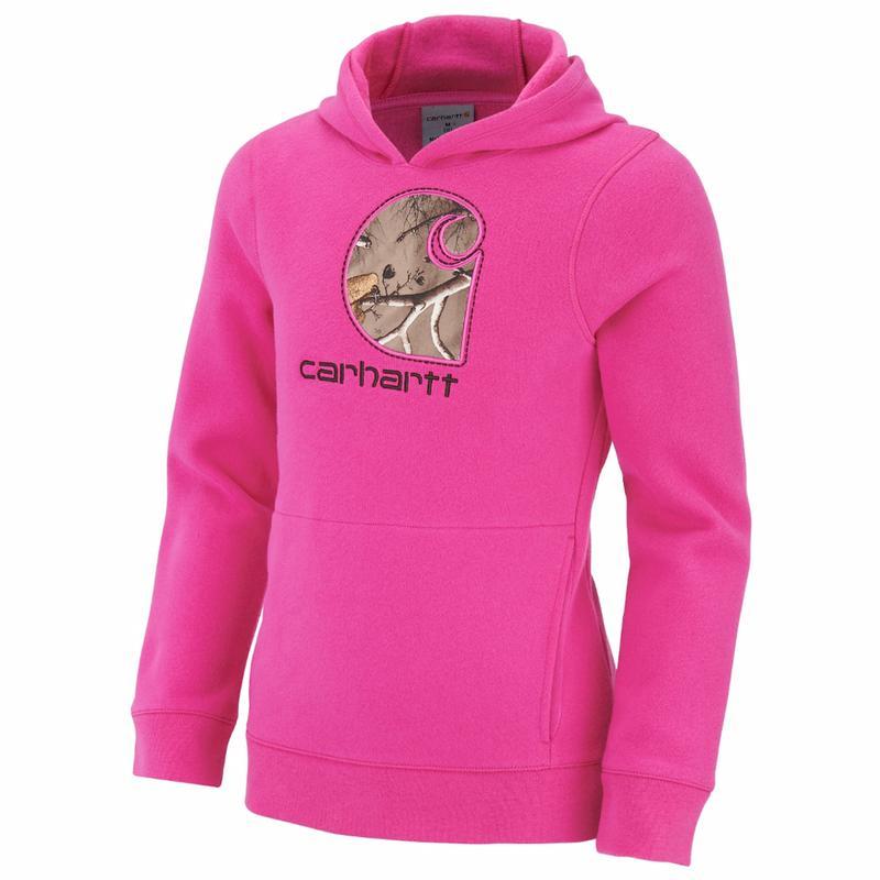 Carhartt Little Girls Camo 'C' Midweight Pullover Sweatshirt
