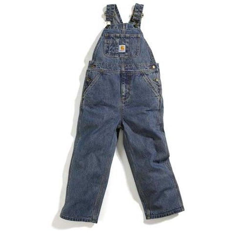 Carhartt Washed Bib Overall - Denim - Toddlers