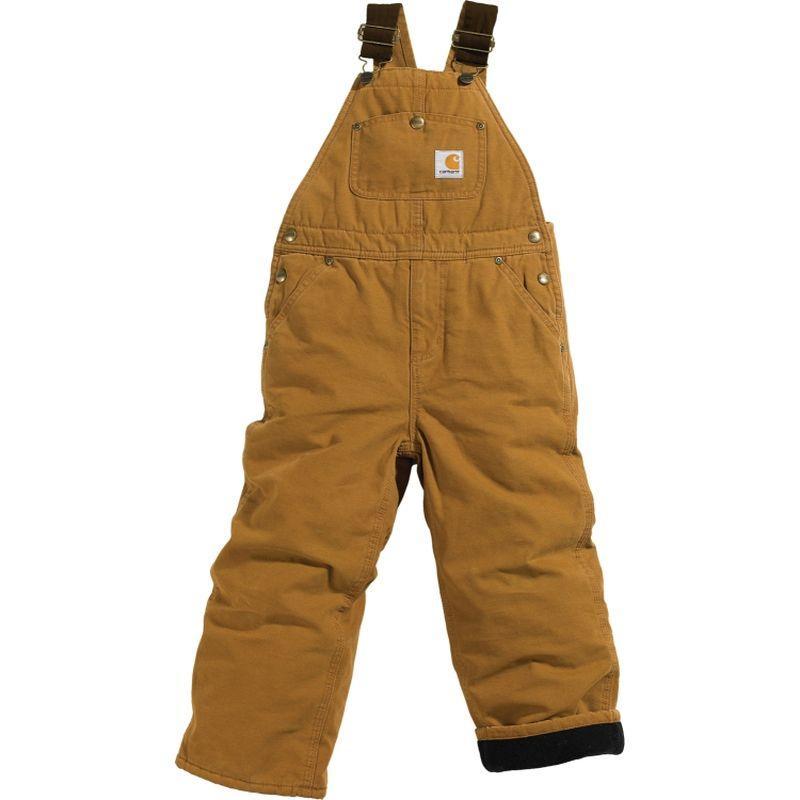 Carhartt Big Kids Quilt Lined Bib Overall Sizes 8 16 Cm8620bk