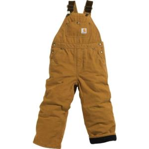 Carhartt Big Kids Quilt Lined Bib Overall Sizes 8-16