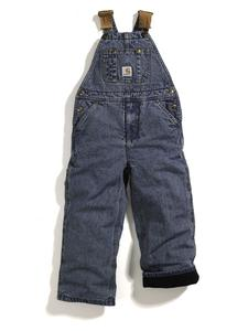 Carhartt Big Kids Washed Denim Lined Bib Overall - Sizes 8-16