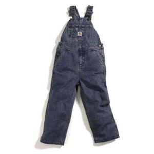 Carhartt Boys 4-7 Washed Denim Bib Overall