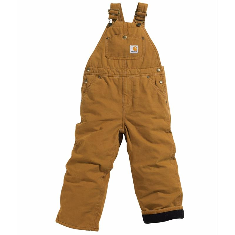 Carhartt Kids (4-7) Washed Duck Quilt Lined Bib Overall